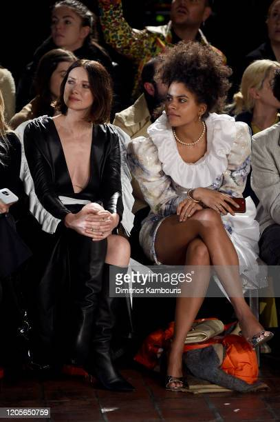 Caitriona Balfe and Zazie Beetz at the front row of Rodarte fashion show during New York Fashion Week at St Bartholomew's Church on February 11 2020...