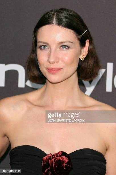 Caitriona Balfe arrives for the Warner Bros and In Style 20th annual post Golden Globes party at the Oasis Courtyard of the Beverly Hilton hotel in...