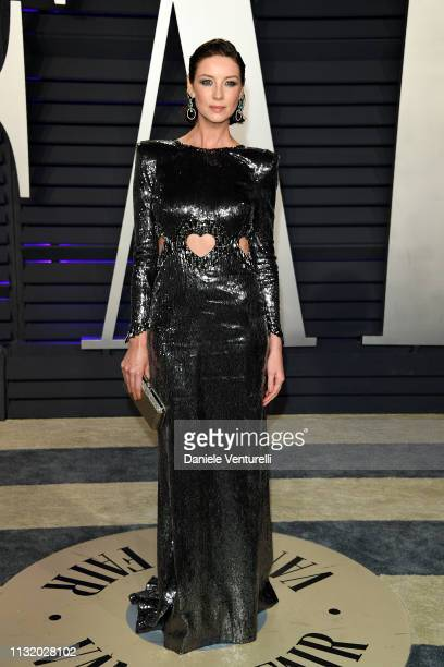 Caitriona Balfe attends 2019 Vanity Fair Oscar Party Hosted By Radhika Jones Arrivals at Wallis Annenberg Center for the Performing Arts on February...