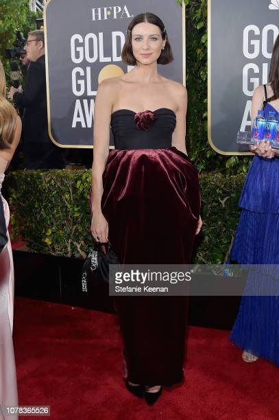 Caitriona Balfe attends FIJI Water at the 76th Annual Golden Globe Awards on January 6 2019 at the Beverly Hilton in Los Angeles California