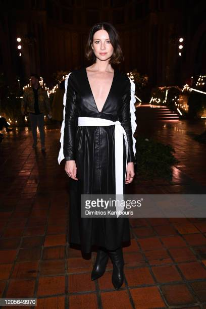 Caitriona Balfe attends front row at the Rodarte fashion show during February 2020 - New York Fashion Week: The Shows on February 11, 2020 in New...