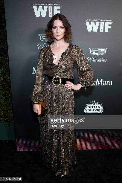Caitriona Balfe attends the 13th Annual Women In Film Female Oscar Nominees Party at Sunset Room Hollywood on February 07, 2020 in Hollywood,...