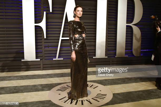 Caitriona Balfe attends the 2019 Vanity Fair Oscar Party at Wallis Annenberg Center for the Performing Arts on February 24 2019 in Beverly Hills...