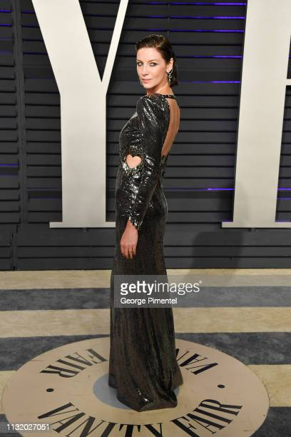 Caitriona Balfe attends the 2019 Vanity Fair Oscar Party hosted by Radhika Jones at Wallis Annenberg Center for the Performing Arts on February 24...