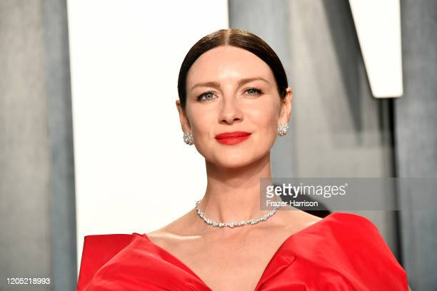 Caitriona Balfe attends the 2020 Vanity Fair Oscar Party hosted by Radhika Jones at Wallis Annenberg Center for the Performing Arts on February 09,...