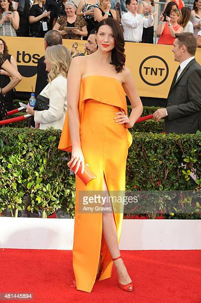 Caitriona Balfe attends the 21st Annual Screen Actors Guild Awards at the Shrine Auditorium on January 25, 2015 in Los Angeles, California.