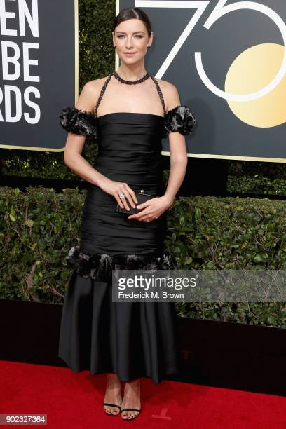 Caitriona Balfe attends The 75th Annual Golden Globe Awards at The Beverly Hilton Hotel on January 7 2018 in Beverly Hills California