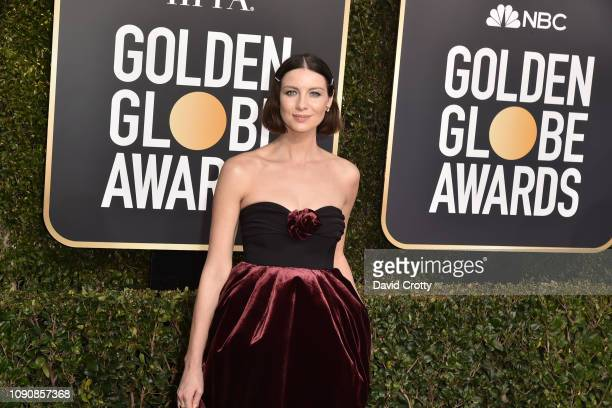 Caitriona Balfe attends the 76th Annual Golden Globe Awards at The Beverly Hilton Hotel on January 06 2019 in Beverly Hills California