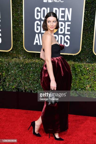 Caitriona Balfe attends the 76th Annual Golden Globe Awards held at The Beverly Hilton Hotel on January 06, 2019 in Beverly Hills, California.
