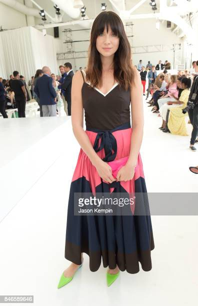 Caitriona Balfe attends the Delpozo show during Fashion Week at Pier 59 Studios on September 13 2017 in New York City