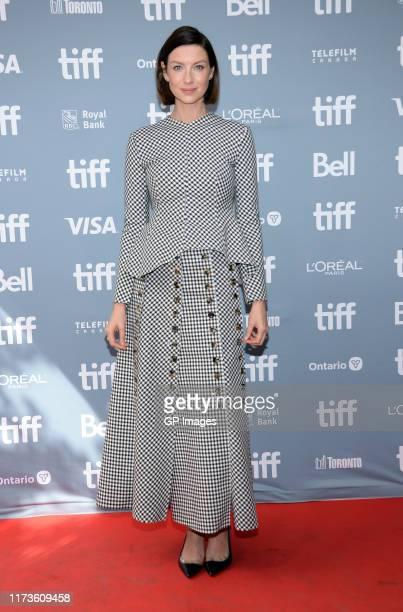 """Caitriona Balfe attends the """"Ford v Ferrari"""" press conference during the 2019 Toronto International Film Festival at TIFF Bell Lightbox on September..."""