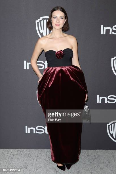 Caitriona Balfe attends the InStyle And Warner Bros Golden Globes After Party 2019 at The Beverly Hilton Hotel on January 6 2019 in Beverly Hills...