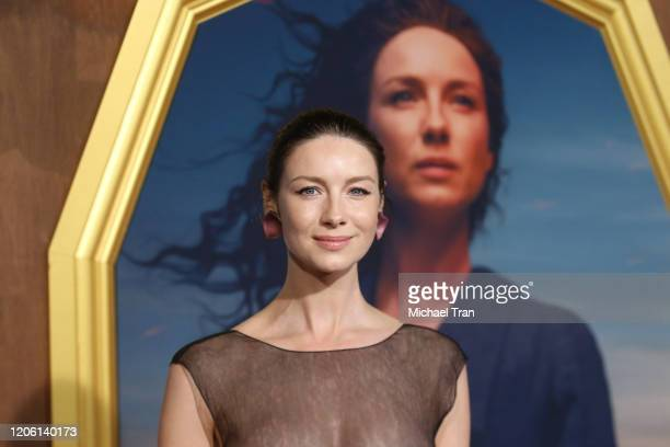 """Caitriona Balfe attends the Los Angeles Premiere of Starz's """"Outlander"""" Season 5 held at Hollywood Palladium on February 13, 2020 in Los Angeles,..."""