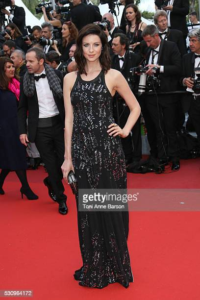 Caitriona Balfe attends the screening of Cafe Society at the opening gala of the annual 69th Cannes Film Festival at Palais des Festivals on May 11...