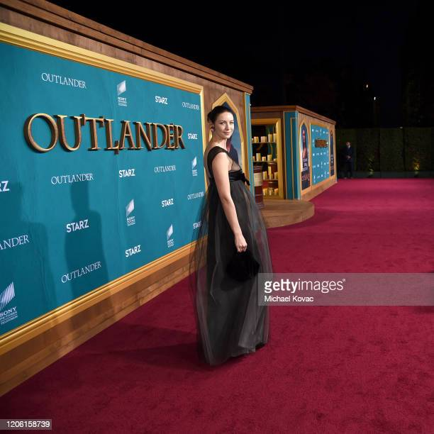 """Caitriona Balfe attends the Starz Premiere event for """"Outlander"""" Season 5 at Hollywood Palladium on February 13, 2020 in Los Angeles, California."""