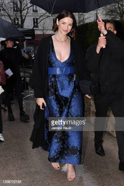 Caitriona Balfe attends the Valentino show as part of the Paris Fashion Week Womenswear Fall/Winter 2020/2021 on March 01, 2020 in Paris, France.