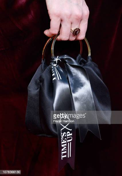 Caitriona Balfe bag detail attends the 76th Annual Golden Globe Awards at The Beverly Hilton Hotel on January 6 2019 in Beverly Hills California