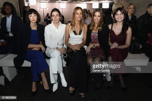Caitriona Balfe Clara Mcgregor Yasmin Le Bon Amber Le Bon and Daisy Lowe attend the Roland Mouret show during London Fashion Week February 2018 at...