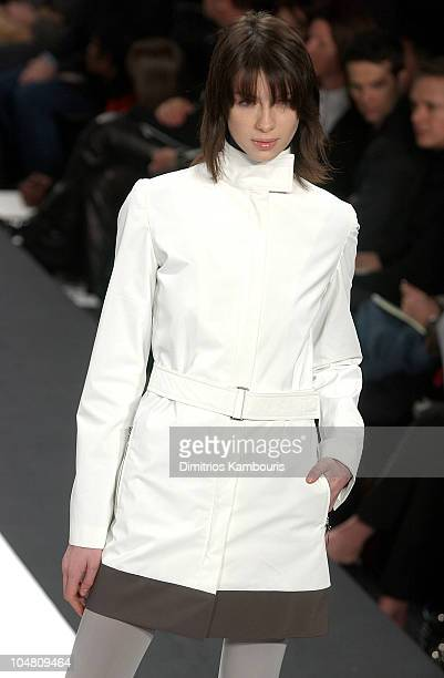 Caitriona Balfe during MercedesBenz Fashion Week Fall 2003 Collections Kenneth Cole Runway at Bryant Park in New York City New York United States