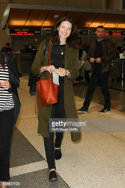 Caitriona Balfe is seen at LAX on May 09 2016 in Los Angeles California