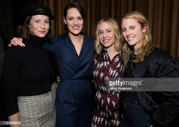 Caitriona Balfe Phoebe WallerBridge Sarah Goldberg and Diana Irvine attend 'Fleabag' opening night party at Bistrot Leo on March 7 2019 in New York...