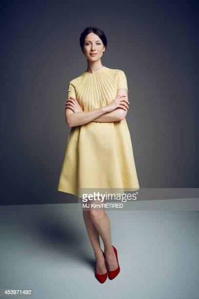 Caitriona Balfe poses for a portrait at the Getty Images Portrait Studio powered by Samsung Galaxy at ComicCon International 2014 on July 24 2014 in...