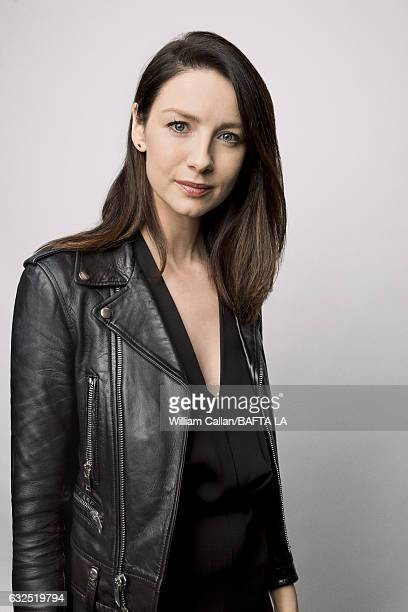 Caitriona Balfe poses for a portraits at the BAFTA Tea Party at Four Seasons Hotel Los Angeles at Beverly Hills on January 7 2017 in Los Angeles...