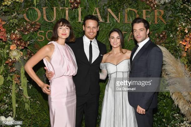 "Caitriona Balfe, Sam Heughan, Sophie Skelton and Richard Rankin attend the 21st SCAD Savannah Film Festival ""Outlander"" Season Four reception on..."