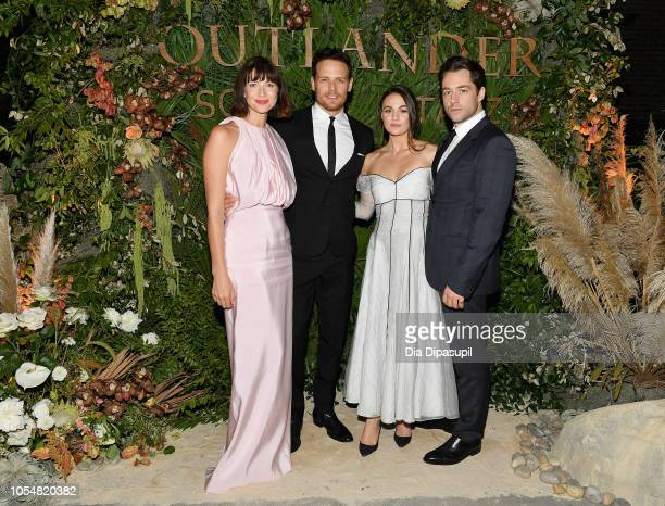 Caitriona Balfe Sam Heughan Sophie Skelton and Richard Rankin attend the 21st SCAD Savannah Film Festival 'Outlander' Season Four reception on...