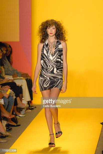 Caitriona Balfe wearing Marc Bouwer Spring 2007 during Olympus Fashion Week Spring 2007 Marc Bouwer Runway at The Atelier Bryant Park in New York...