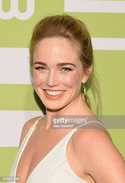Caity Lotz attends the CW Network's New York 2015 Upfront Presentation at The London Hotel on May 14 2015 in New York City