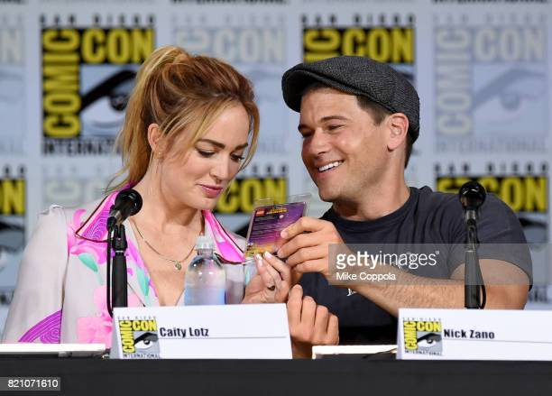 Caity Lotz Nick Zano attend DC's 'Legends Of Tomorrow' special video presentation and QA during ComicCon International 2017 at San Diego Convention...
