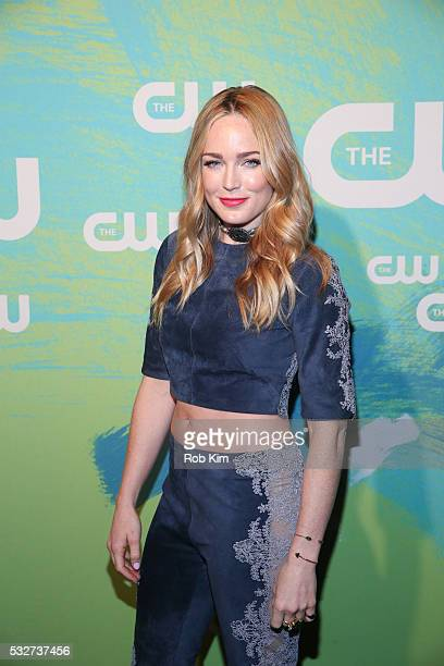 Caity Lotz of the series DC's Legends of Tomorrow attends The CW Network's 2016 New York Upfront Presentation at The London Hotel on May 19 2016 in...