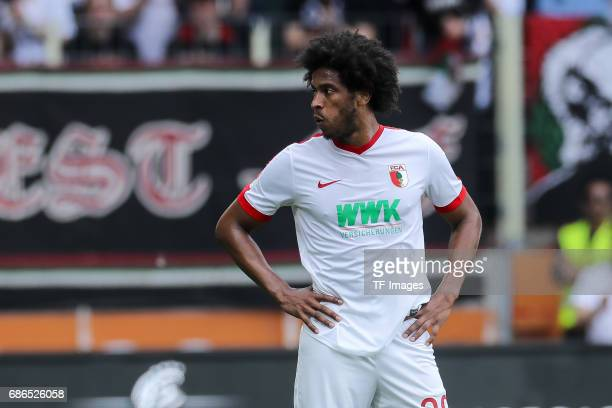 Caiuby Francisco da Silva of Augsburg looks on during the Bundesliga match between FC Augsburg and Borussia Dortmund at the WWKArena on May 13 2017...