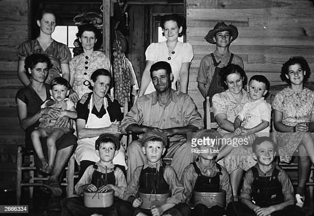 A Cajun family on a farm near Crowley Louisiana