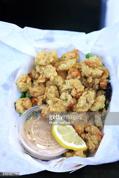 Cajun style fried shrimps