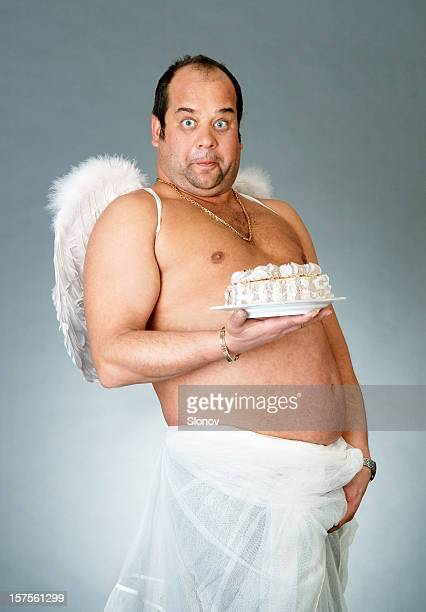 cake angel - funny cupid stock pictures, royalty-free photos & images
