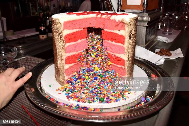 Cake at Julie Macklowe's 40th birthday Spectacular at La Goulue on December 19 2017 in New York City