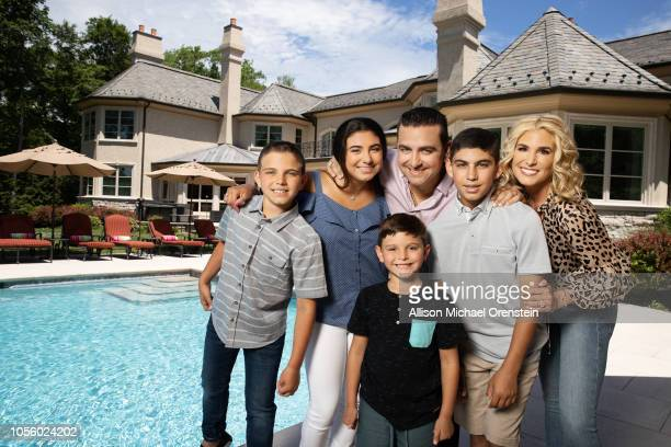 Cake Boss Buddy Valastro and family are photographed for People Magazine on June 20 2018 at home in Montville New Jersey