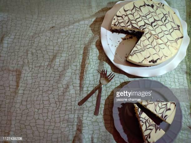 cake chocolate white marble