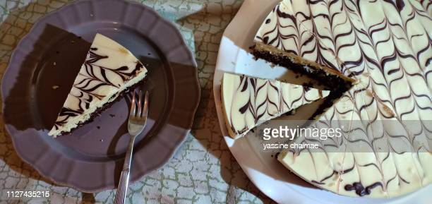 cake chocolate white marble