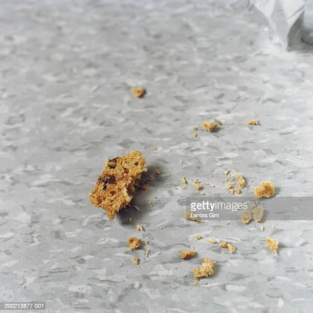 Cake crumbs, close-up