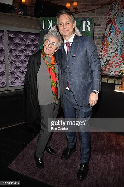 Cake designer Sylvia Weinstock and jason Binn attend DuJour Magazine's Jason Binn along with Lisa And James Cohen celebration of Arianna Huffington's...