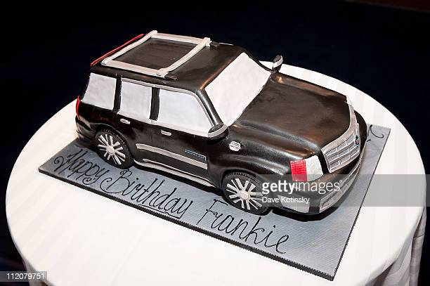 Cake Detail of cake by Palermo's Bakery of Ridgefield NJ during the celebration of Frank Gotti's 21st birthday with the cast of Gotti Three...