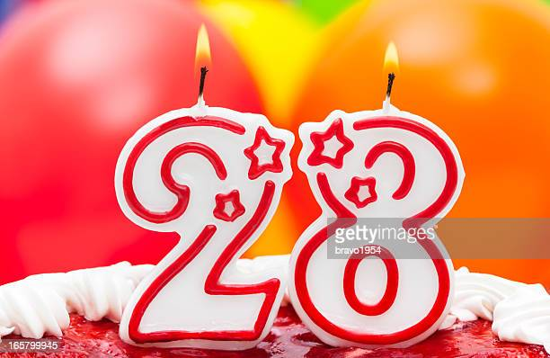 Kuchen für 28. Geburtstag