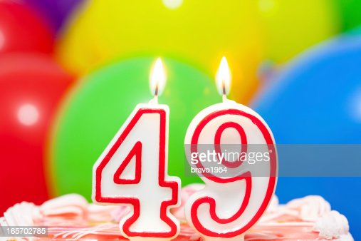 Cake For 49th Birthday Stock Photo