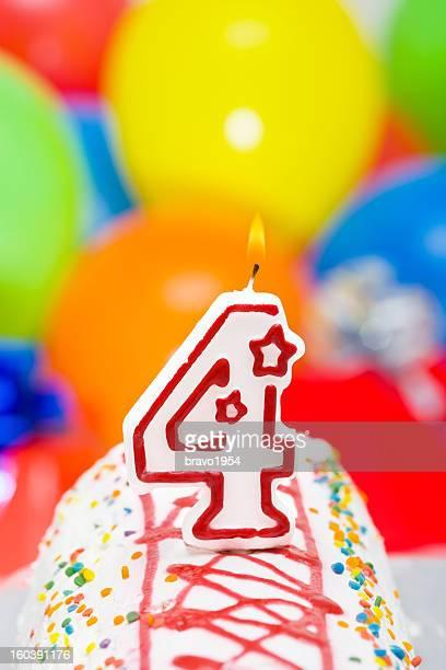 Gâteau pour quatrième anniversaire
