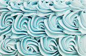 Cake Icing Floral Swirl Background