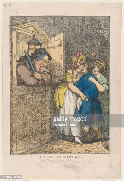 A Cake in Danger April 20 1806 Artist Thomas Rowlandson