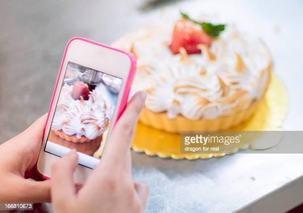 Cake in mobile phone